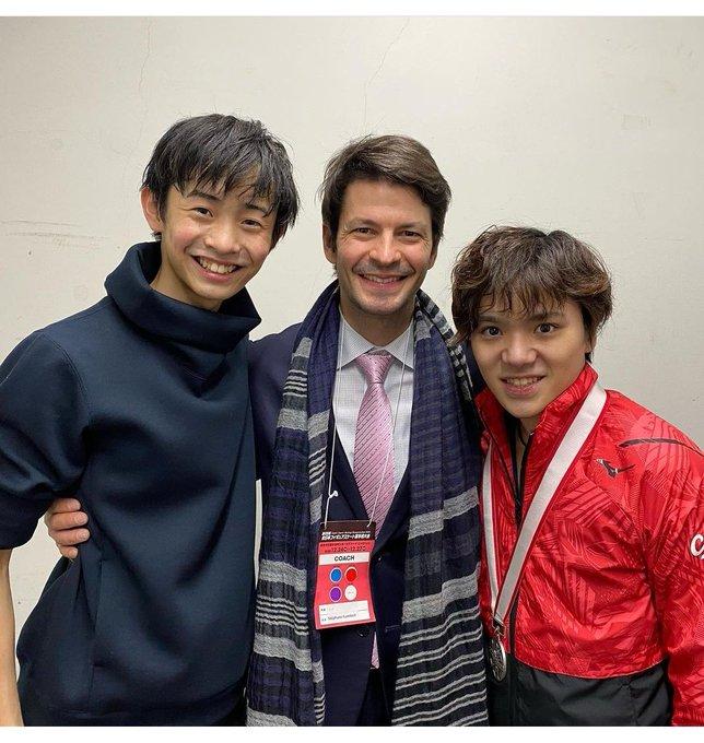 ステファン先生のInstagramに3ショット!  …「全日本選手権の成功、誇りに思って良い!」…