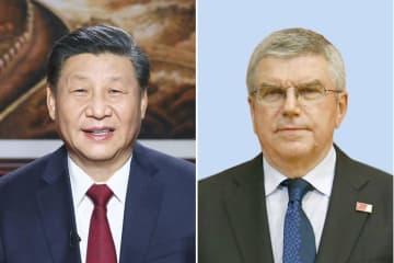習氏、東京・北京五輪開催へ努力 IOC会長と電話会談