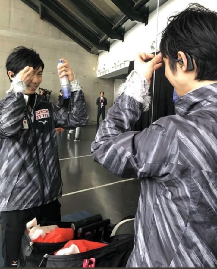 ミルボン しゅーしゅーかけてるとこ好き!  …「トリノと全日本かな」「トリノのかわいいw」…
