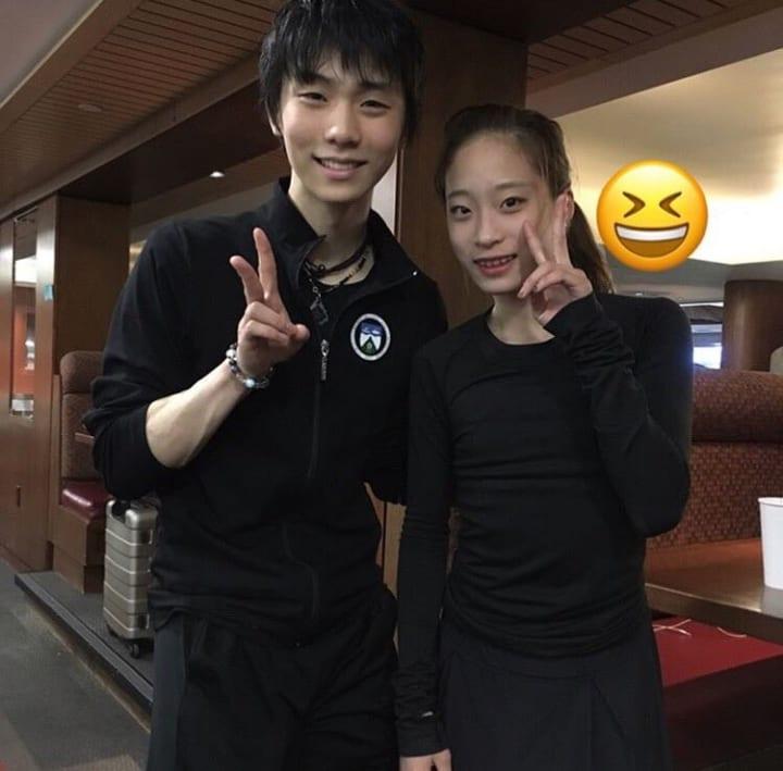 クリケにも来て羽生と写真撮ってた!  …「韓国の人だよね」「日本の若手は英語勉強してるのかな?と勘違いしたよ」…