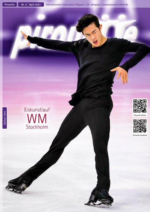 【ネイサン・チェン】ドイツのフィギュアスケート雑誌 Pirouette Eiskunstlaufmagazin の表紙を飾る!