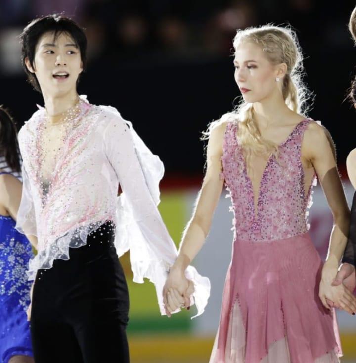 やっぱり羽生は発光体だ!  …「フィンランド女子かな?」「春ちゃんとピンク衣装女子並んだときはファンタジーだった」…
