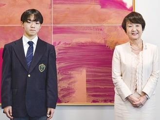 鍵山選手 銀メダル獲得 市長に報告!  …【タウンニュース神奈川区版】…