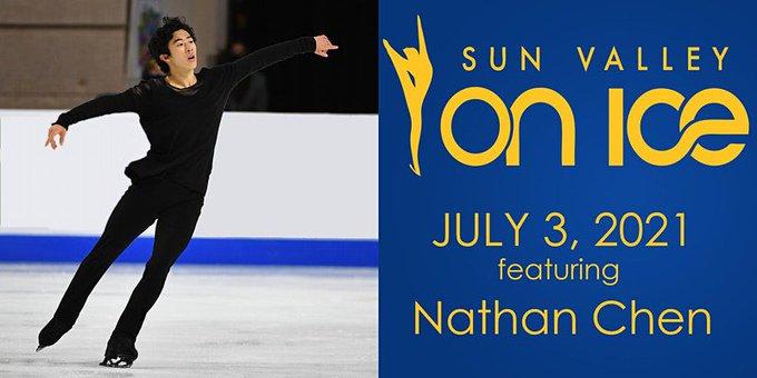 Sun Valley On Ice 2021 ネイサン・チェン選手出演アイスショー! 〜日本時間 7月4日 pm12:30開始〜