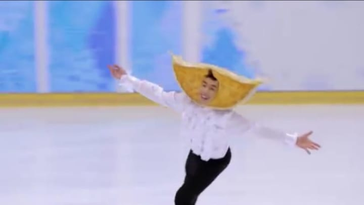 スケートでギョーザを表現するのは難しそうw