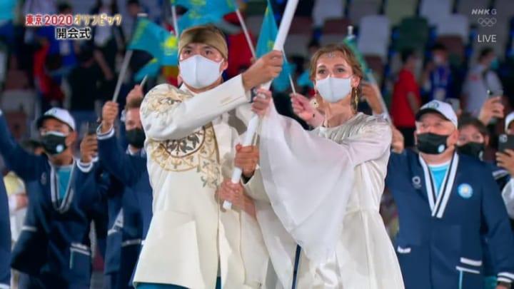 【画像】東京五輪 開会式、お姫様のようだったザフ美女に注目が集まる!