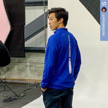 ネイサン・チェン選手、Panasonicの撮影に臨む! 〜La Boheme の衣装でリンクでの撮影も〜