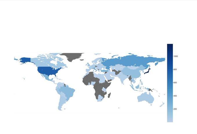 【投稿】「羽生くんファンが世界中にいることを示そうと、TwitterやFB、ファングループなどでどこから応援してるかのアンケートを取った結果、157ヶ国からデータが集まった」