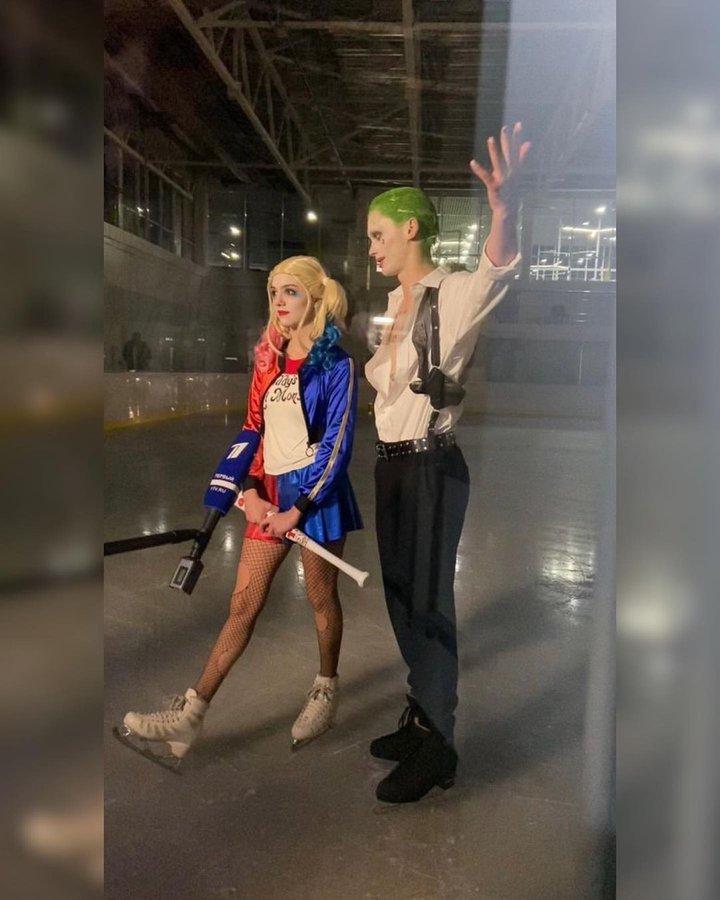 【画像】メドヴェージェワ、プログラム中ハーレイ・クインの役を演じる! ~写真がファンアカウントで公開~