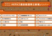 AKR43総選挙、3月のアンコール放送を視聴者の投票で決める総選挙!  …現在1位は「羽生結弦選手と出会って人生変わった人」…