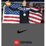 ネイサンオフィシャルサイト、トップページ に NIKEに加えTOYOTAのロゴマーク も!