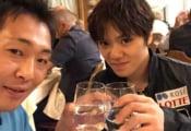 デミさんのブログに宇野昌磨が!お水で乾杯!
